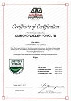 170620 AAWCS Diamond Valley Pork Certificate